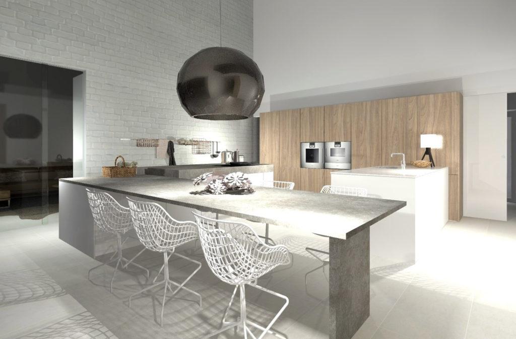 Martina Brühwiler Sutter Raumdesign - Visualisierung Küche Konzeptphase Einfamilienhaus