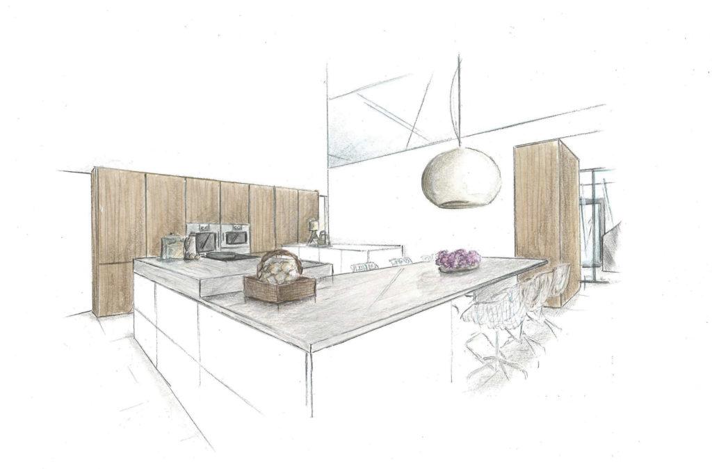 raum-design-küche-skizze-martina-brühwiler